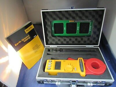 Fluke 1630 Earth Ground Clamp, Excellent Condition, Case, Booklet