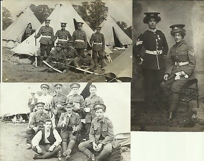 3 x WW1 era group postcards  Lincolnshire Regt