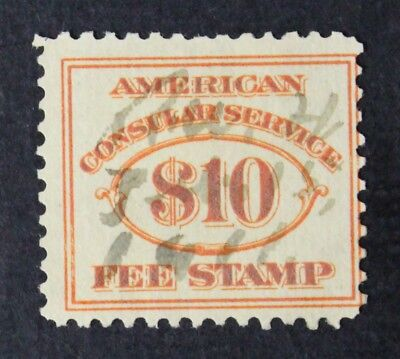 CKStamps: US Revenue Consular Service Fee Stamps Scott#RK7 Used CV$140