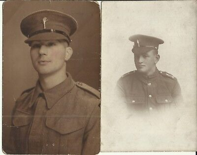 2 x portrait postcards Welsh Guards