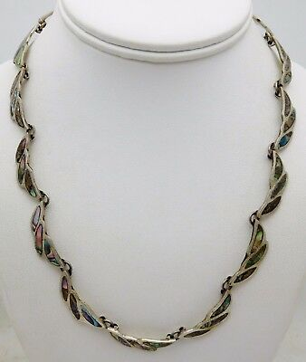 MEXICAN Sterling Silver / Abalone Ladies Necklace