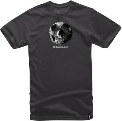 Alpinestars Skullduggery Mens Short Sleeve T-Shirt Black