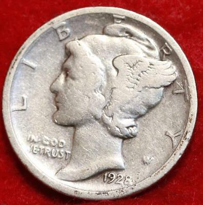 1928-D Denver Mint Silver Mercury Dime Free Shipping