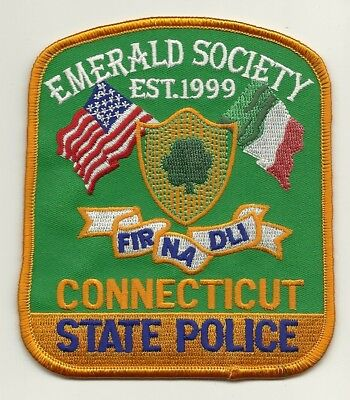 Emerald Society Pipes & Drums Connecticut State Police Shoulder patch