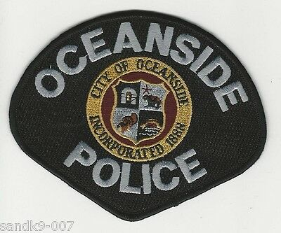Oceanside Police State of California CA Shoulder Patch