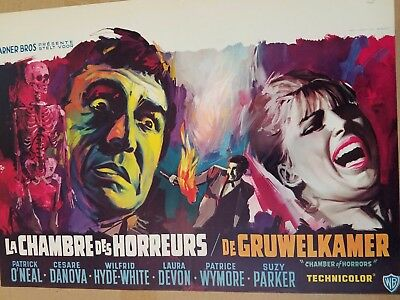 CHAMBER OF HORRORS Patrick O'Neal Suzy Parker  Rare Belgian Halloween Special
