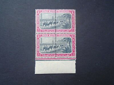 Classic Gb Uk Soedan Military Telegraphs Block Vf Mnh B649.29 0.99$