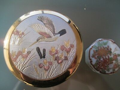 Pretty Cloisonne Trinket Box Keito Japan Bird/floral & Miniature Shibata T. Box