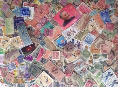 Collection of stamps from China,Hong Kong & India
