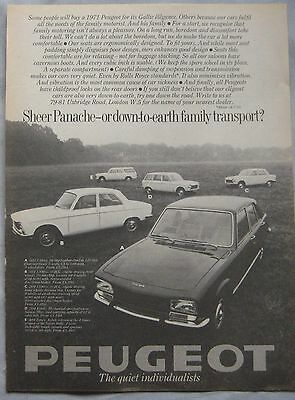 1971 Peugeot range Original advert No.1