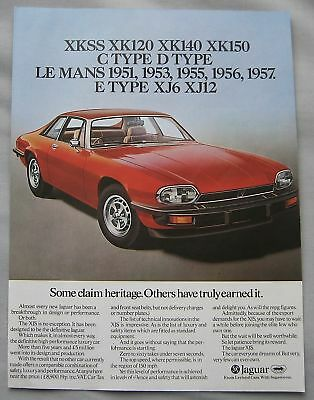 1976 Jaguar XJ-S Original advert
