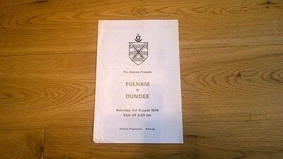 1974-75 Fulham v Dundee - Friendly