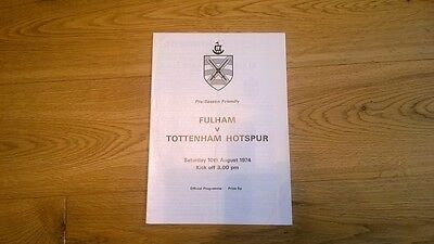 1974-75 Fulham v Tottenham Hotspur - Friendly
