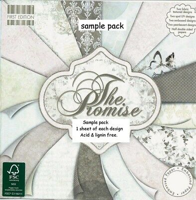DOVECRAFT THE PROMISE PAPERS 8 x 8 SAMPLE PACK  NEW 1 OF EACH DESIGN - 16 SHEETS