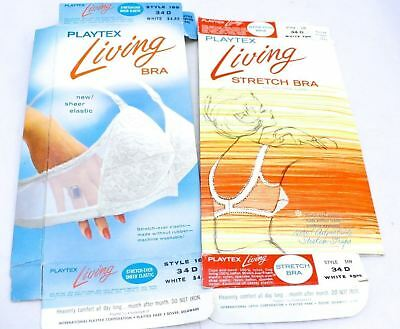 Vintage Playtex Living Bra Boxes 2 1960s