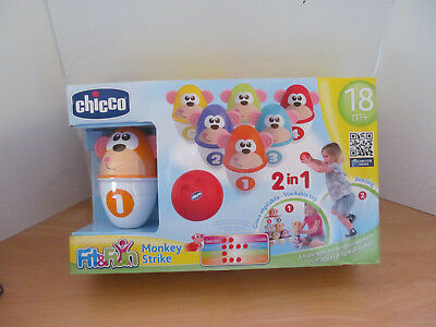 Chicco Monkey Strike 2 In 1 Game Age 18 Months+ New
