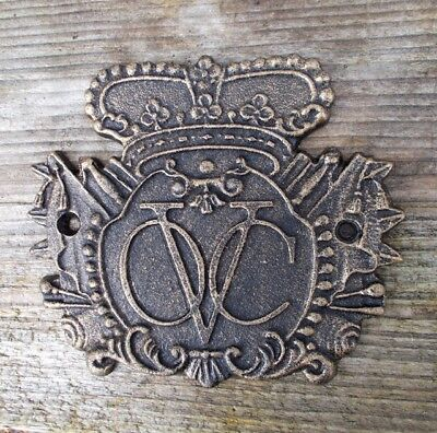 Dutch East India Company Gusseisen Schild Piraten Maritim Deko Schifffahrt Neu