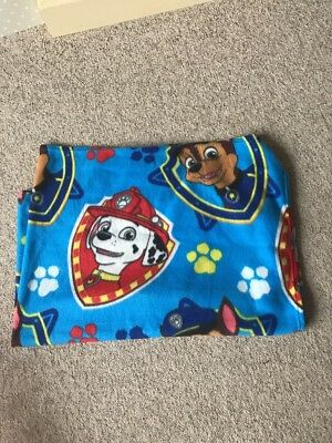 "CHARACTER WORLD PAW PATROL "" CHASE & MARSHALL"" FLEECE BLANKET 100cm X 150cm VGC"