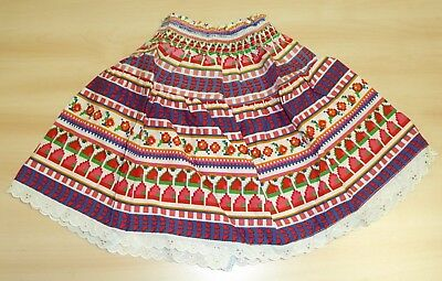 VINTAGE 1970's UNWORN GIRLS PERIDOT RAH RAH PATTERNED SKIRT AGE 6 YEARS