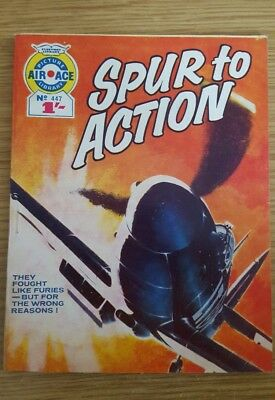 """Air Ace Picture Library #447  1969 """"Spur to Action"""""""