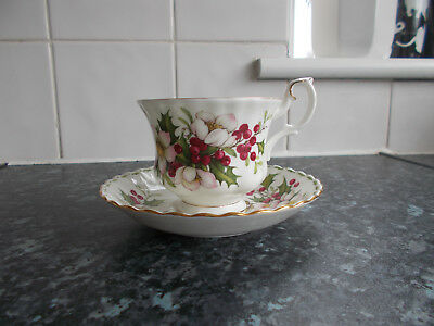 Royal Albert Flower Of The Month  Cup & Saucer December Christmas Rose*free P&p*