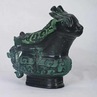 Collection decoration Chinese Bornze Handwork Birds and Animals Cup