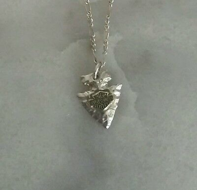 Harley Davidson OLP Sterling silver 10K Arrowhead Necklace
