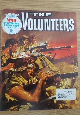 """War Picture Library #537  1969  """"The Volunteers"""""""