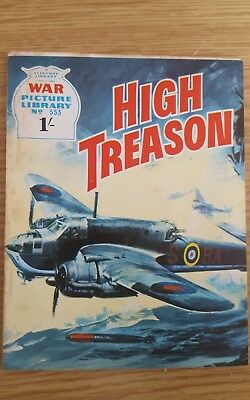 """War Picture Library #553  1969  """"High Treason"""""""
