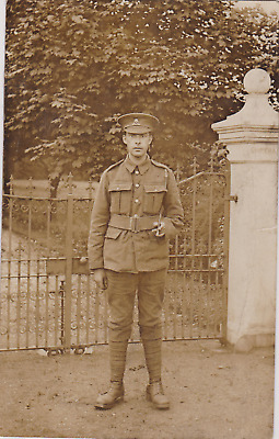 WW1 RPPC - Prince of Wales' North Staffordshire  Regiment - Private at Chipchase