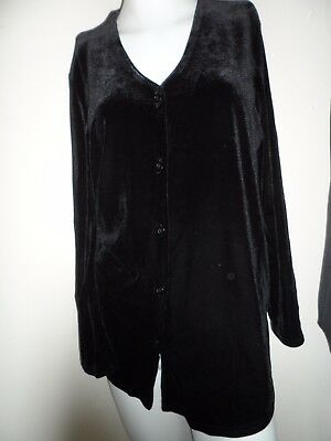 Bnwt new Maternity mothercare Ladies black velour cardigan size 12