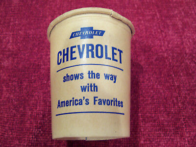 CHEVROLET--1965 Promo Paper Cup and Tea Bag.