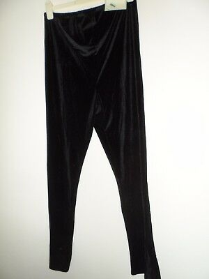 Bnwt new Maternity mothercare Ladies black velour Trousers size 12