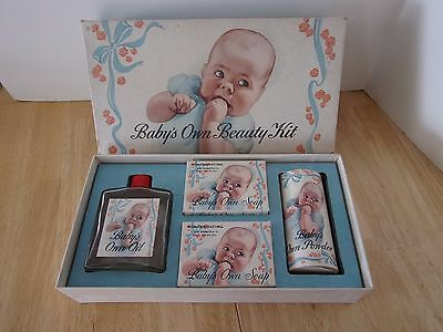 Vintage Babys Own Soap Gift Set Powder Oil Soap