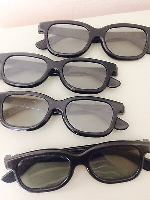4 Pairs Of Real 3D Glasses