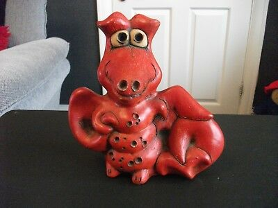 Groggs dragon  Signed by late John Hughes HIGHLY COLLECTABLE  RARE .