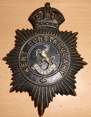 Obsolete Original Vintage Kent Constabulary Police Plate Badge