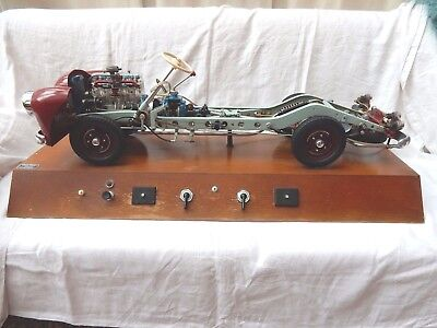Rare vintage HÖHM Auto Fahrschulmodell / Schnittmodell visible engine chassis