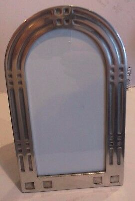 1 Rennie Mackintosh Style Pewter Hip Flask And Small Dish