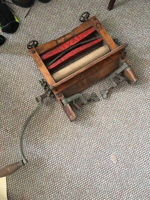 Antique Rival Clothes Wringer washing machine top American Wringer 1898 Works!