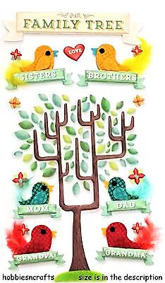 Ek Success Jolee's Boutique 3-D Stickers - Brother Sister Mum Dad - Family Tree