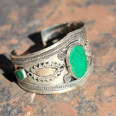 BRACELET (1pc) Turkman Tribal Dance ATS Real MALACHITE Belly Dance 502c7