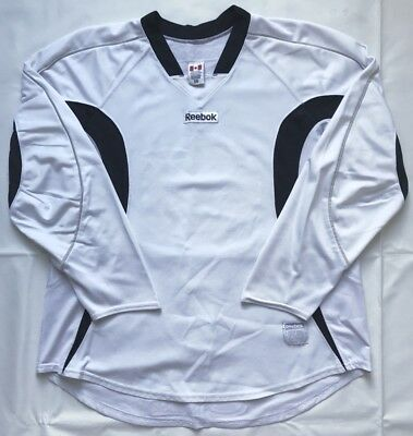 Pro Stock Return Blank White/Black Reebok Edge 2.0 Hockey Practice Jersey - 58