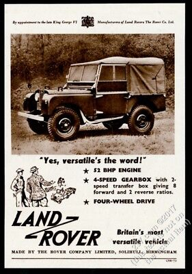 1953 Land Rover photo vintage print ad