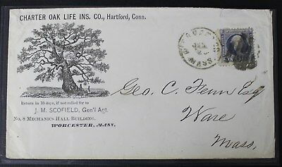 CKStamps: US Stamps Collection Scott#115 6c Pictorial Used on-Cover, Cover Tear