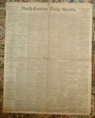 The North Eastern Daily Gazette.1894.Published Middlesbrough.Stockton Park Cost