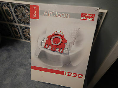 Original Miele FJM Airclean: Box of 4 Vacuum Cleaner Bags & 2 Filters