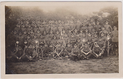 WW1 RPPC - Suffolk Regiment Signals Section with Equipment  - Ipswich Photo'
