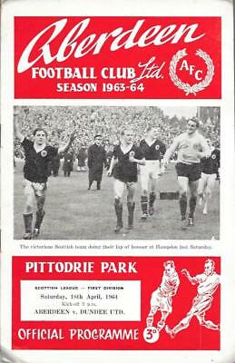 ABERDEEN  v.  DUNDEE UNITED.   Scottish League.   1963/64