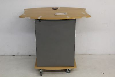 Office Business Presentation Wheeled Computer Cupboard Storage Lectern Podium